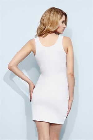 03.DR-TANKD13-WHT  TANK DRESS