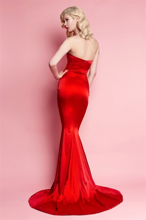03.DR-W13D035-RED  SATIN GILDA