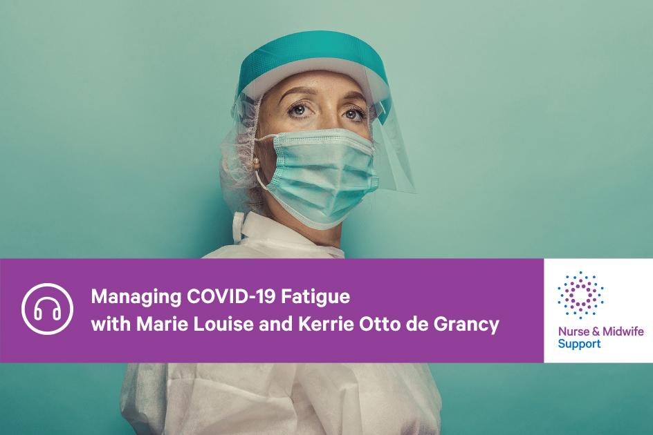 Nurse in COVID-safe PPE
