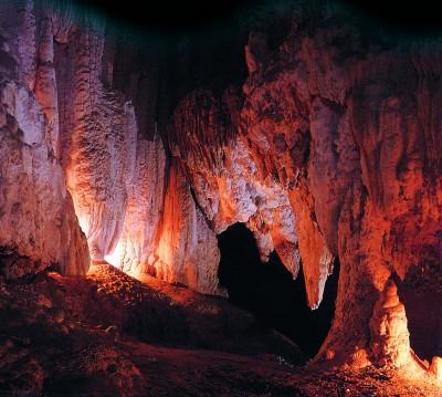 Limestone formations at the Kawiti Caves