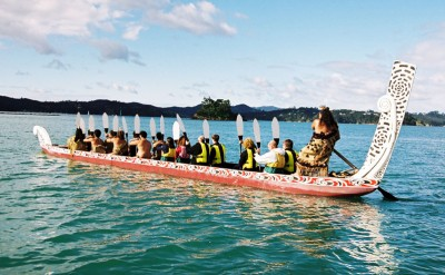 Paddle a Waka in the Bay of Islands