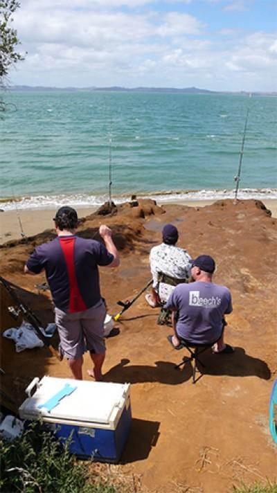 Fishermen at Pouto