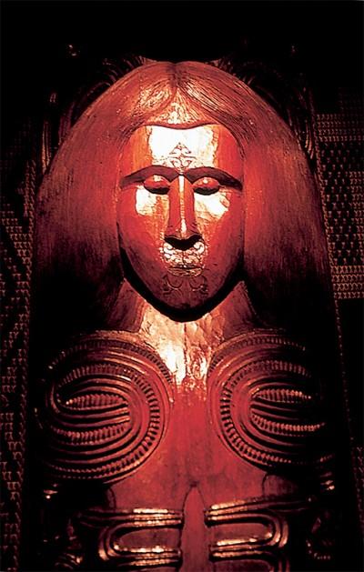 Maori carving Waitangi