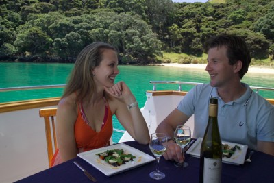 Dining aboard, Bay of Islands