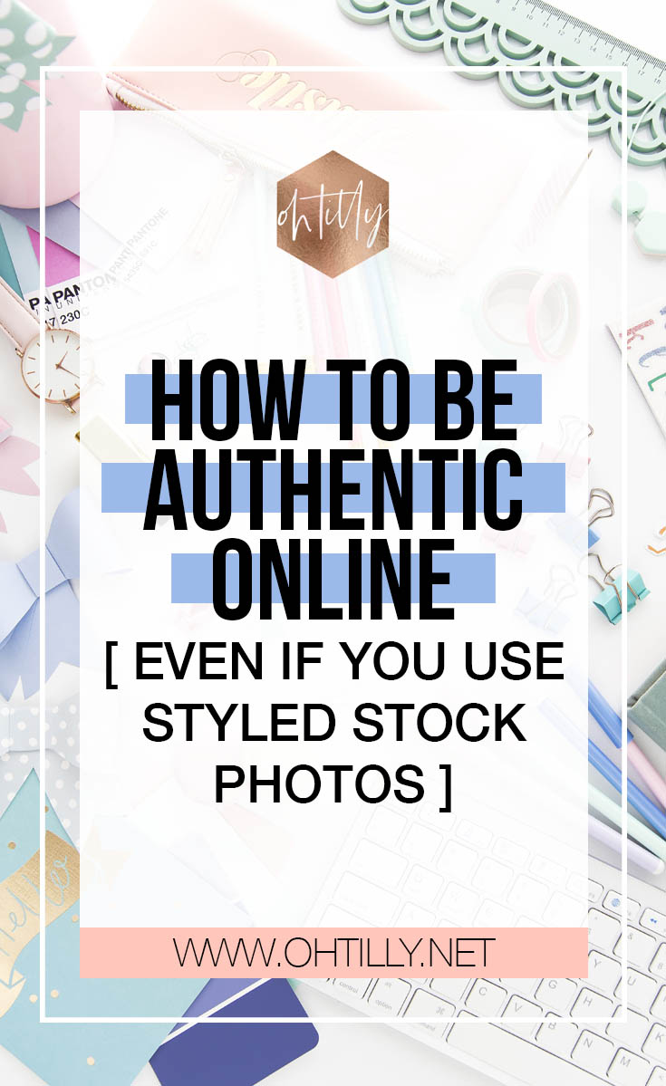 How to be authentic online even when you use styled stock photos