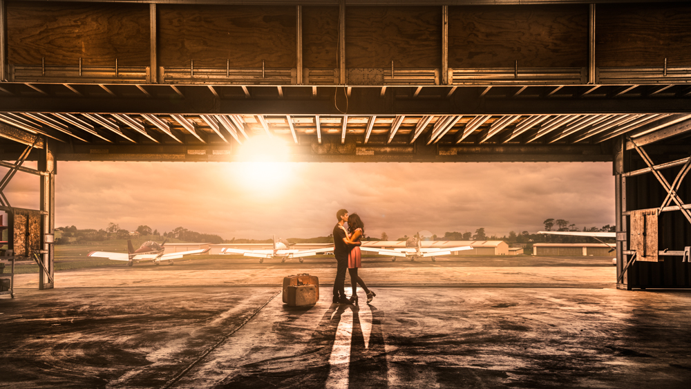 Engagement Photo Shoot in an Airfield
