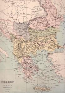Turkey And Greece Map.Turkey Greece Map 1889 Philatelic Database