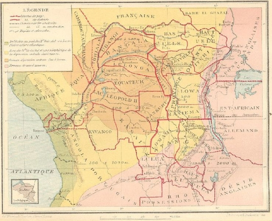 map of the belgian congo 1920