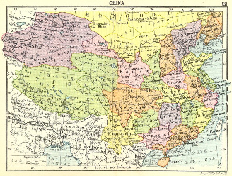 Show Map Of China.Map Of China 1912 Philatelic Database