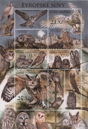 stamps of the czech republic owls issue 2015 philatelic database