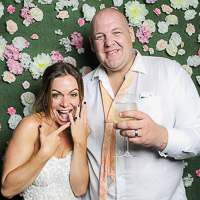 Photo Booth and Flower Wall Testimonial