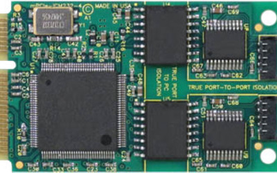 Interworld Electronics mPCIe-COM-xSM Mini PCI Express multiprotocol RS232/422/485 serial cards