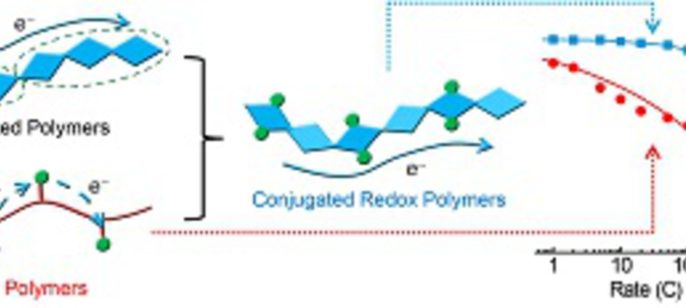 N-type polymer for fast organic battery
