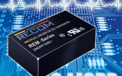 RECOM REM3, REM6 and REM10 series medical-grade DC/DC converters