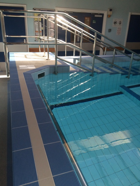 Glass therapy heals hydrotherapy pool for Outdoor swimming pool leicester
