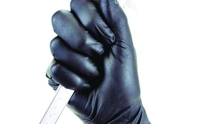 TGC Nitrile black disposable gloves