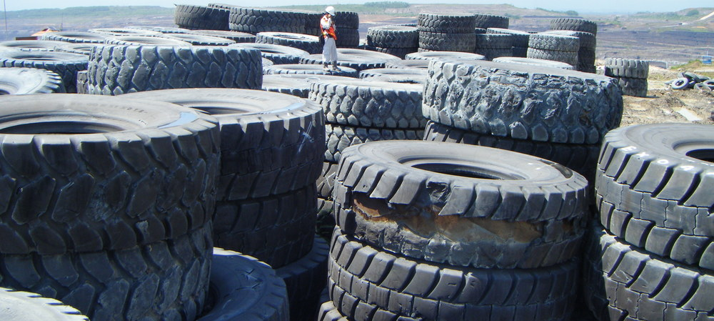 How to recycle a three-and-a-half-tonne tyre