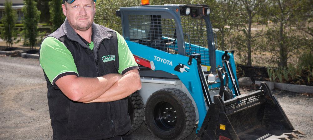 Skid-steer loader gets the job done for landscaper