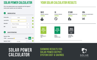 Solar Calculator online solar power calculator