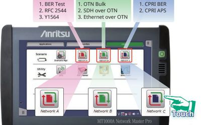 Anritsu Network Master Pro automated testing feature