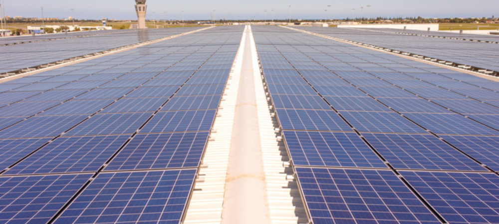 Adelaide Airport's solar system is now complete