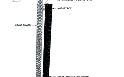 SuperCraneTower stair tower and amenities for tower cranes