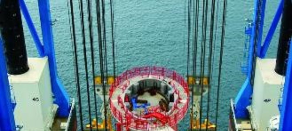 Offshore highway uses pier positioning and handling system