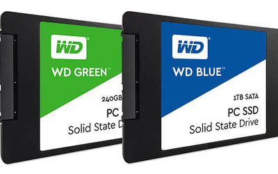 Western Digital WD Blue and WD Green solid-state drives