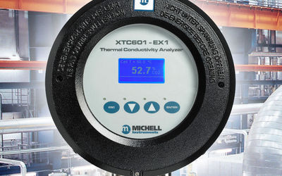 Michell Instruments XTC601 gas analyser for hydrogen-cooled generators