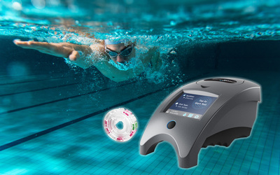 LaMotte WaterLink Spin Touch photometer-based pool water testing system