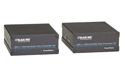 Black Box ServSwitch Fiber DVI-D + USB Extender - DVI, VGA, Audio (#ACX310FIA)