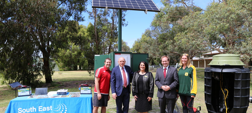 Sports ground gets a solar-powered sewer