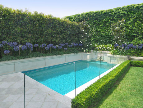 Trees for a thai garden real estate housing house and for Pool privacy screen