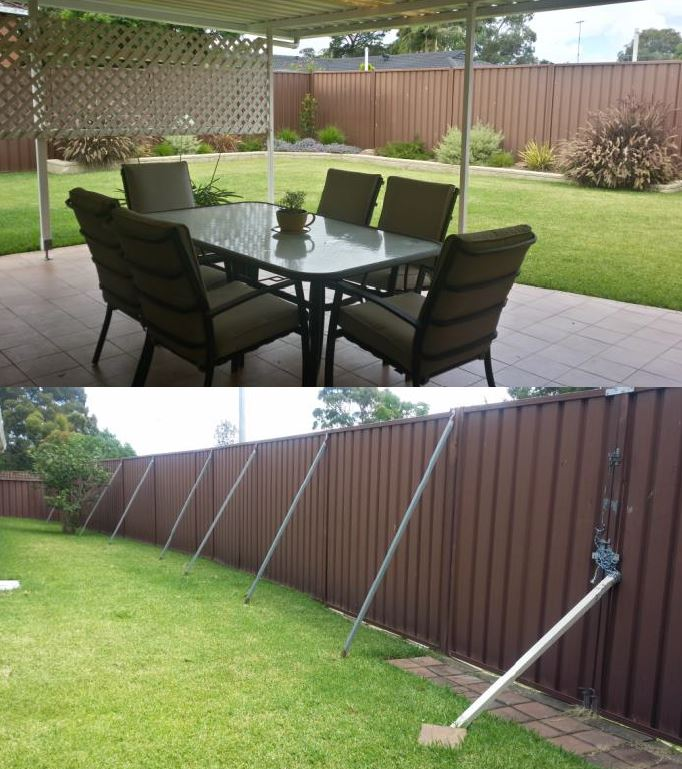 aussie backyard make over makes way for slimwall fence