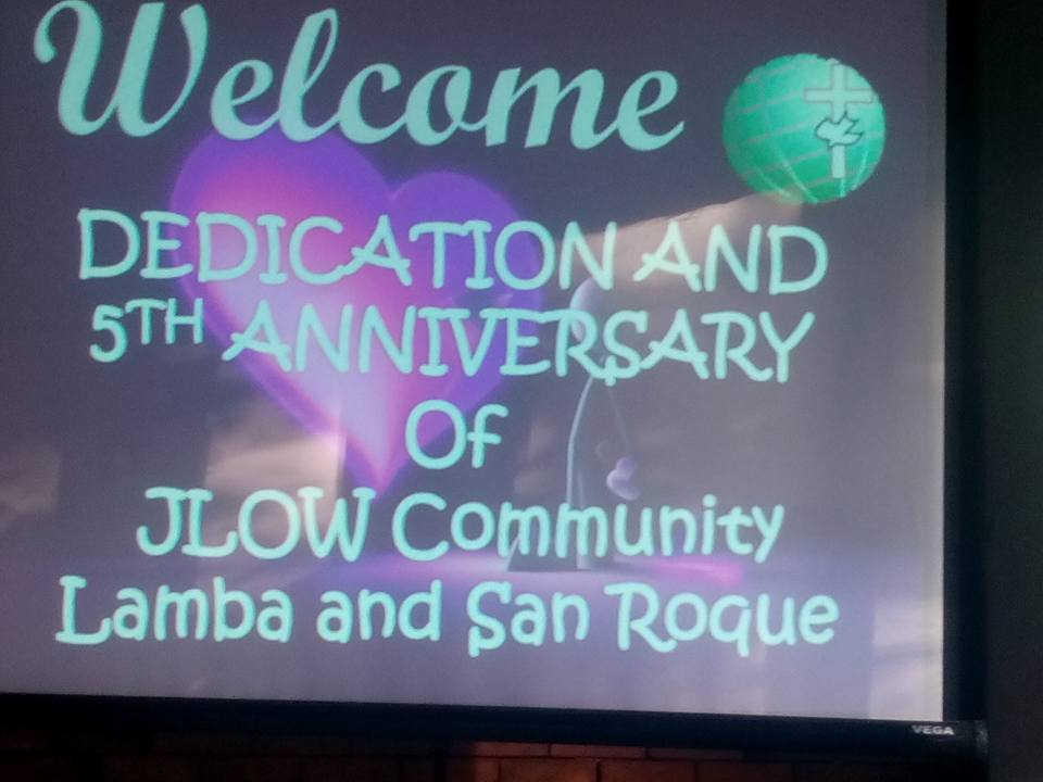 JLOW Lamba and San Roque Dedication and 5th Anniversary