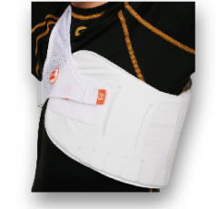 How to cricket a wear chest guard foto