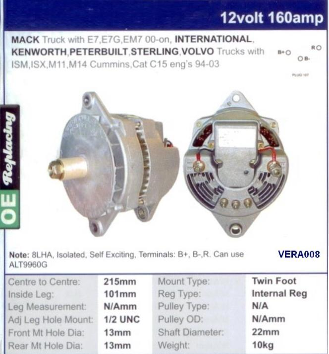 National Truck Spares - Alternator Vermeer Trencher on