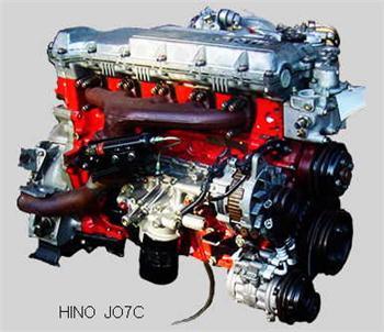 Hino JO7C Diesel Engine J07C Used Engine Ranger 5 FC3J FC FC3J