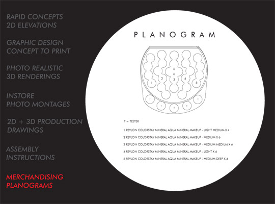 INDUSTRIAL AND GRAPHIC DESIGN merchandising planograms