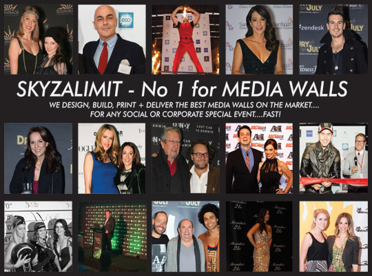 MEDIA WALLS, BACKDROP BANNERS, STEP & REPEAT BANNERS, EVENT BANNERS, POPUP BANNERS, UNDERBELLY STARS, DRY JULY,