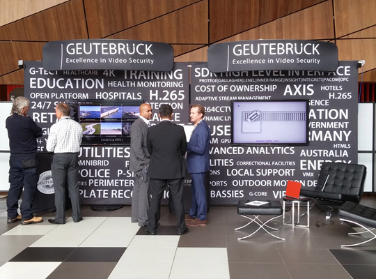 GEUTEBRUCKE - tension fabric trade show display,  ROADSHOW KITS - SKYZALIMIT DESIGN