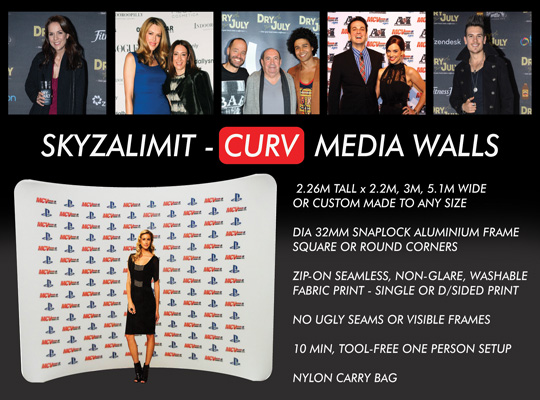 MEDIA WALL HIRE SYDNEY, CURV WALL, CURVED WALL