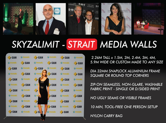 MEDIA WALL HIRE SYDNEY, STRAIT WALL