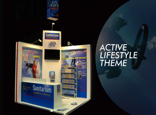 custom exhibition stand, trade show display