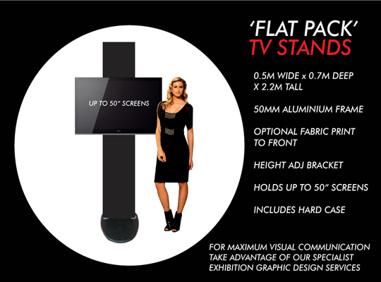 PORTABLE TV STAND FOR TRADE SHOWS