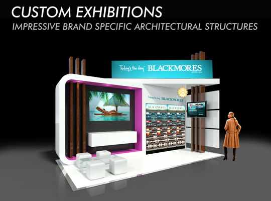 Custom Exhibition Stands  - BLACKMORES