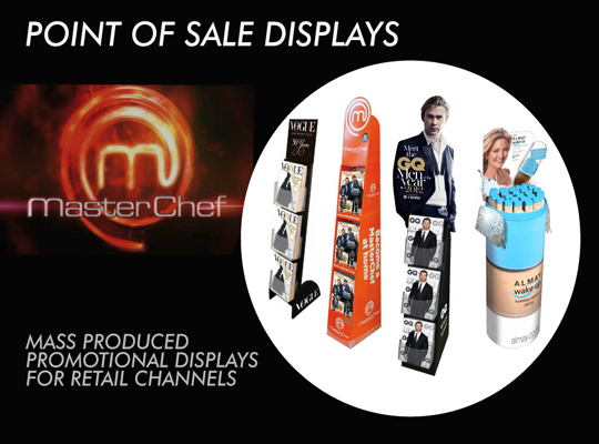 POS Display - MASTERCHEF, VOGUE 50 YRS, GQ MEN OF THE YEAR 2012, ALMAY