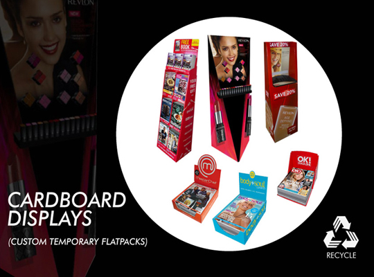 CARDBOARD POS DISPLAYS, CARDBOARD DISPLAY STANDS, CARDBOARD display units