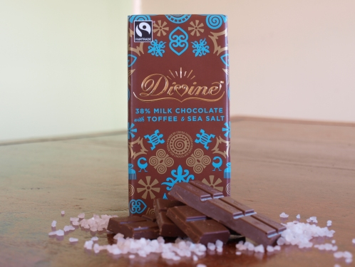 Milk Chocolate with Toffee and sea salt 100g