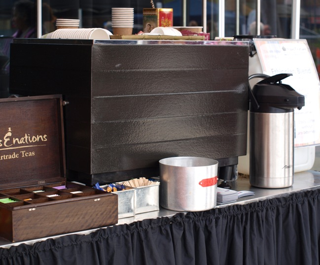 Fairtrade coffee cart